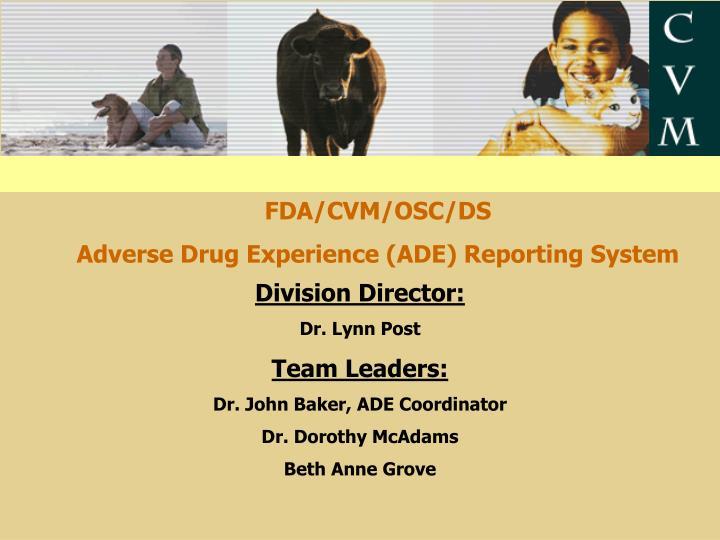 FDA/CVM/OSC/DS