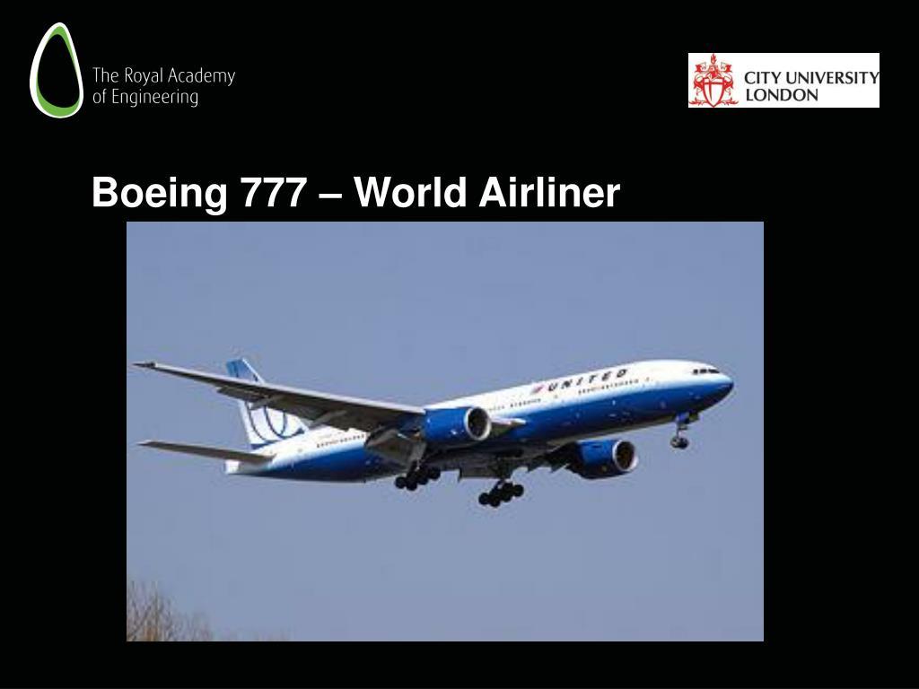 Boeing 777 – World Airliner