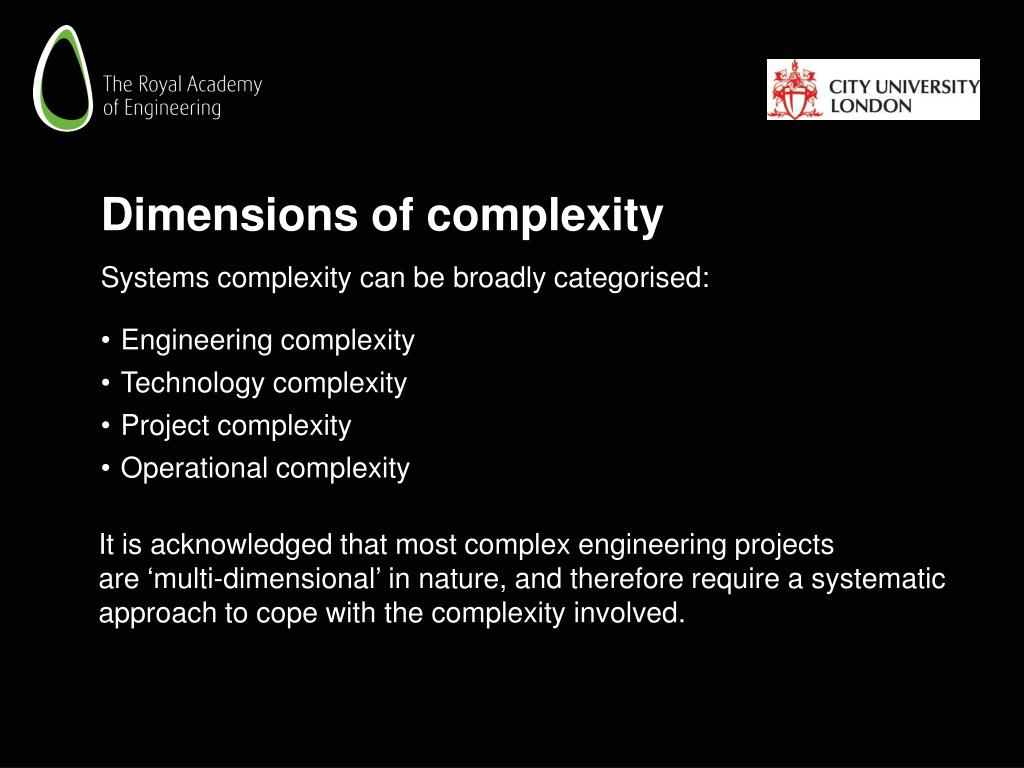 Dimensions of complexity