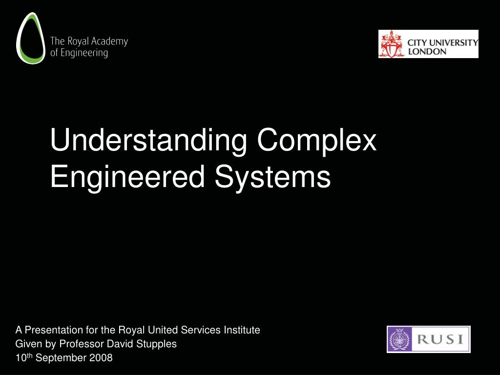 understanding complex engineered systems l.