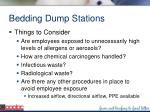 bedding dump stations