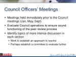 council officers meetings