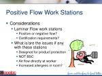 positive flow work stations97