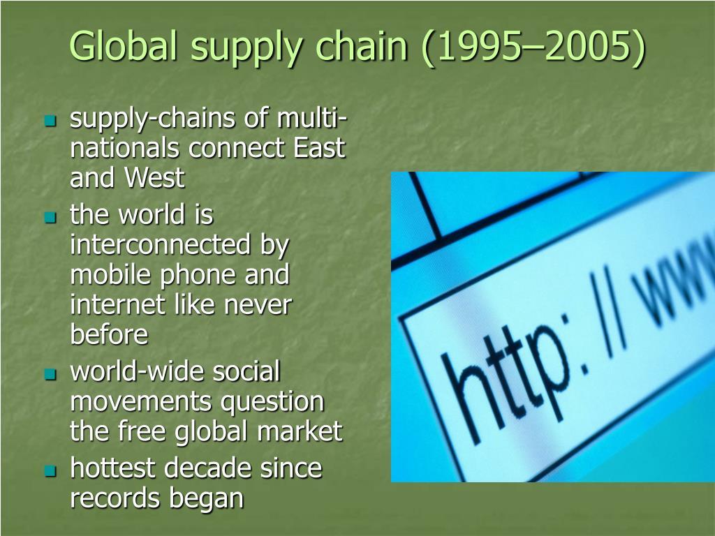 Global supply chain (1995–2005)