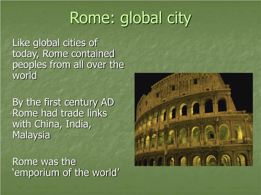 Rome: global city