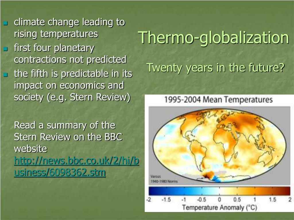 Thermo-globalization