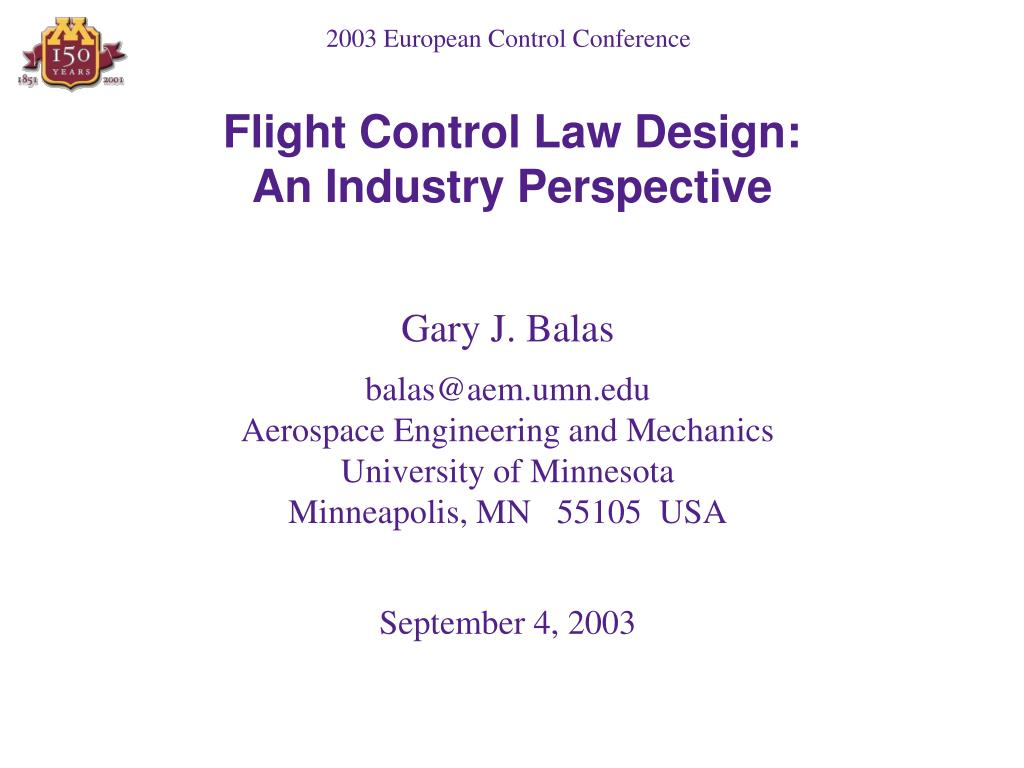 flight control law design an industry perspective l.
