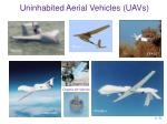 uninhabited aerial vehicles uavs