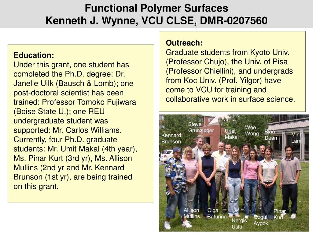 Functional Polymer Surfaces