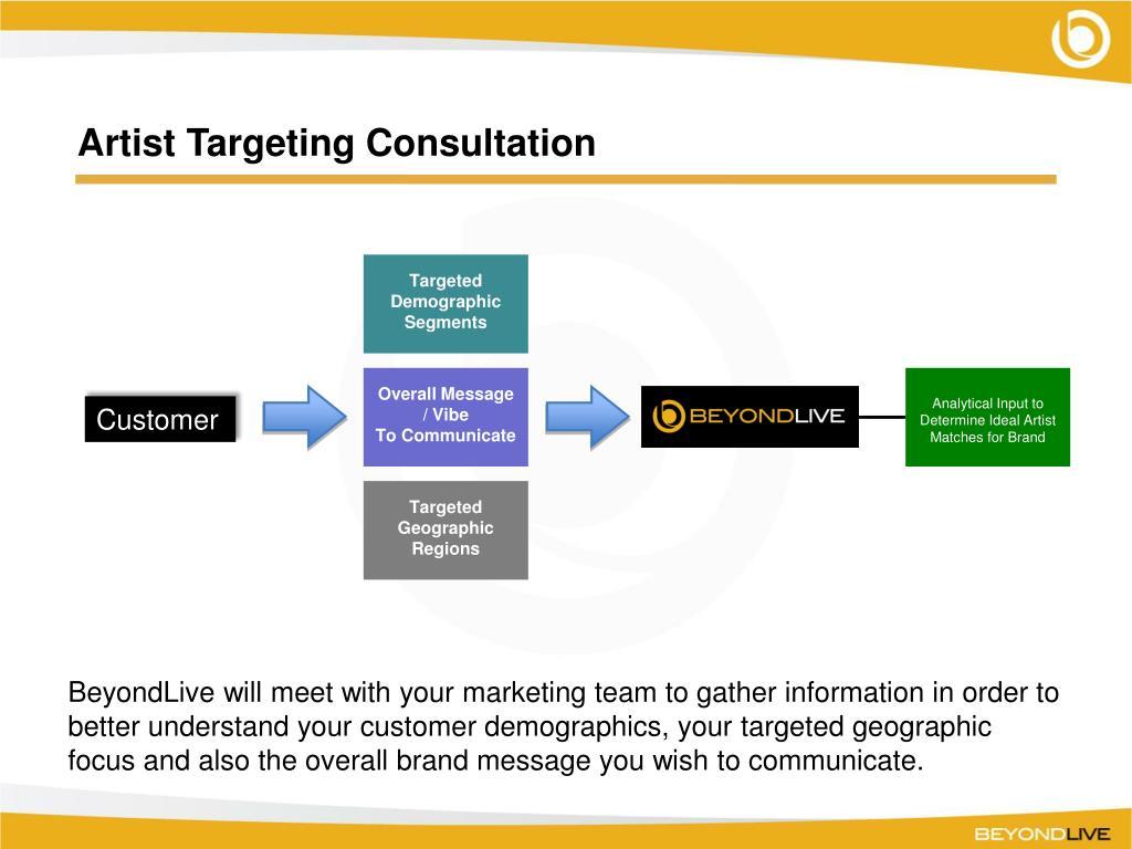 Artist Targeting Consultation