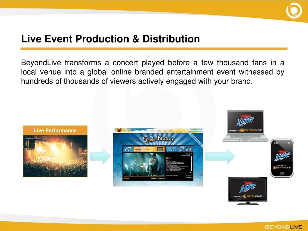 Live Event Production & Distribution