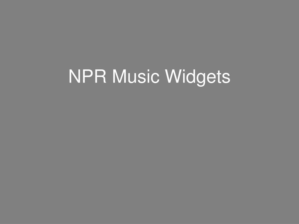 NPR Music Widgets