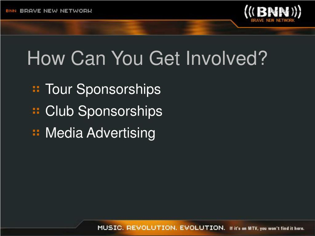 How Can You Get Involved?