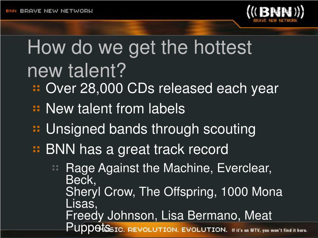 How do we get the hottest new talent?
