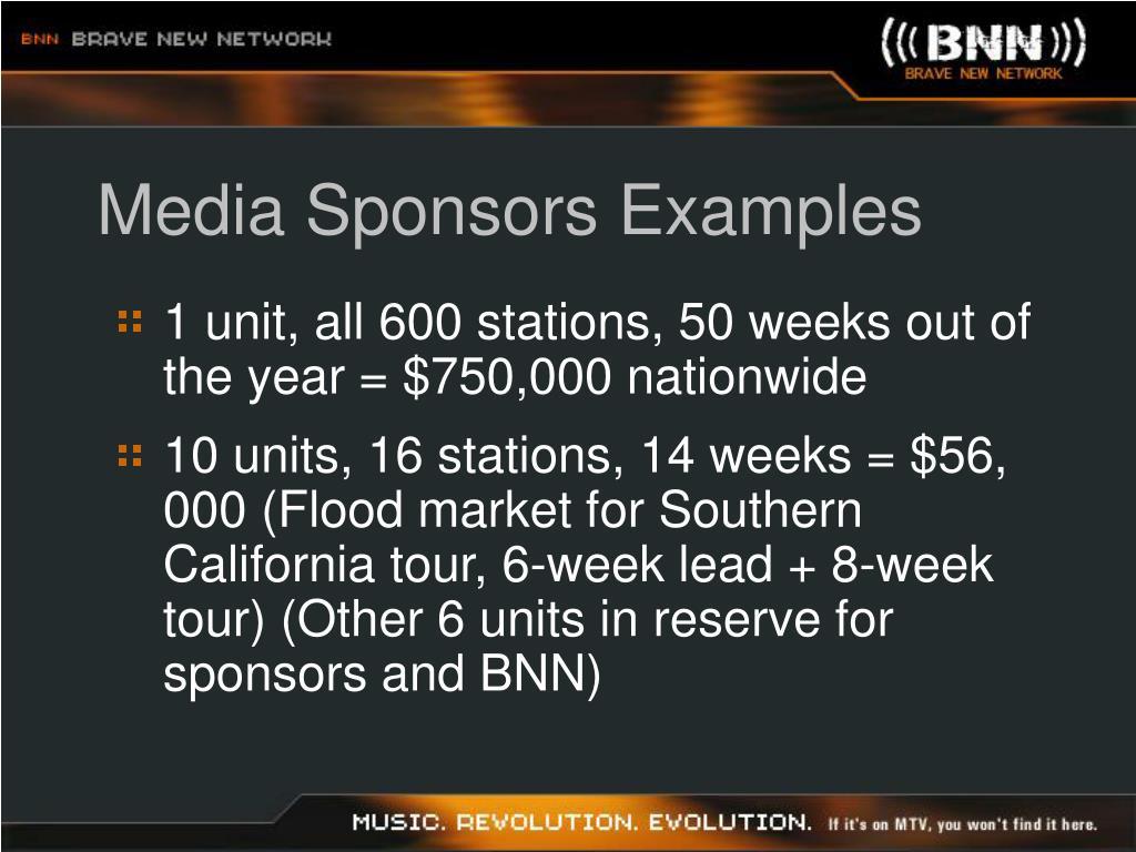 Media Sponsors Examples