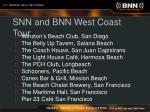 snn and bnn west coast tour