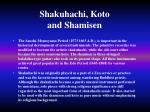 shakuhachi koto and shamisen