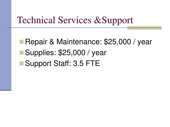 Technical Services &Support