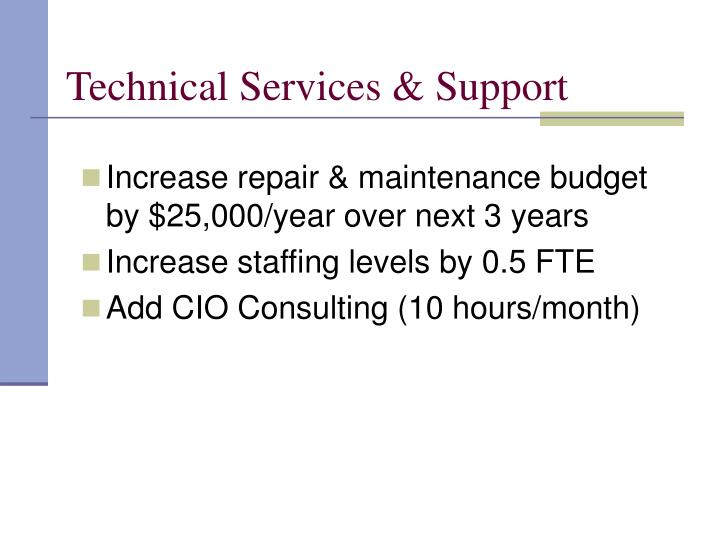 Technical Services & Support