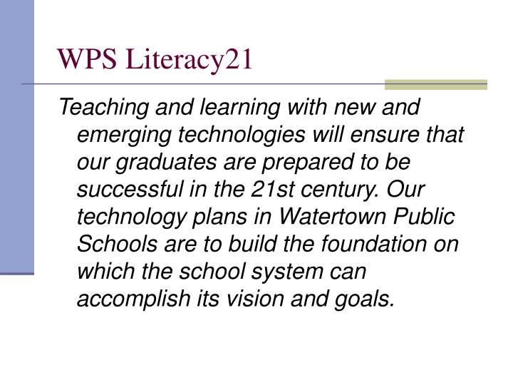 WPS Literacy21