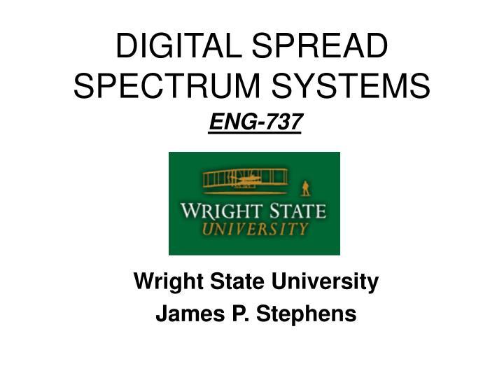 digital spread spectrum systems n.
