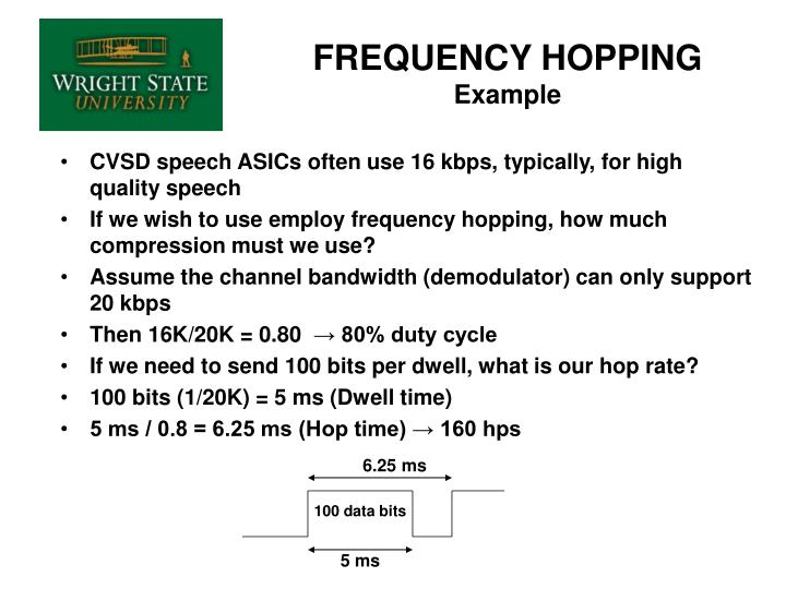 Frequency hopping example