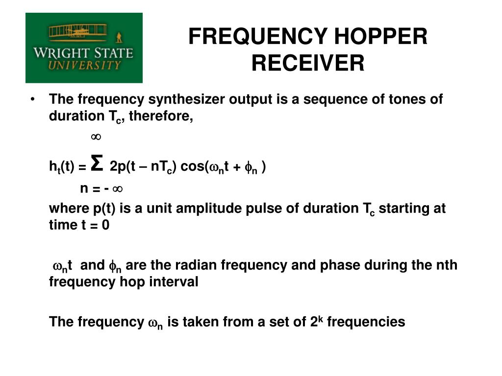 FREQUENCY HOPPER RECEIVER