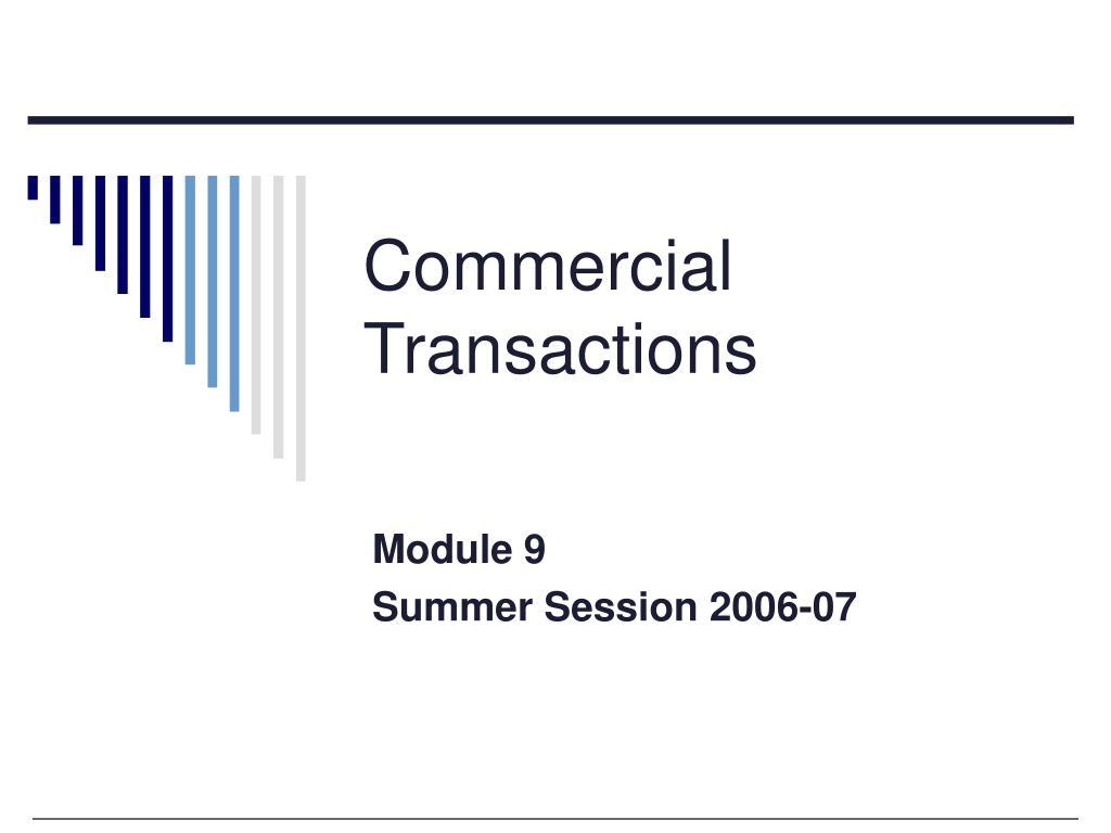 commercial transactions l.