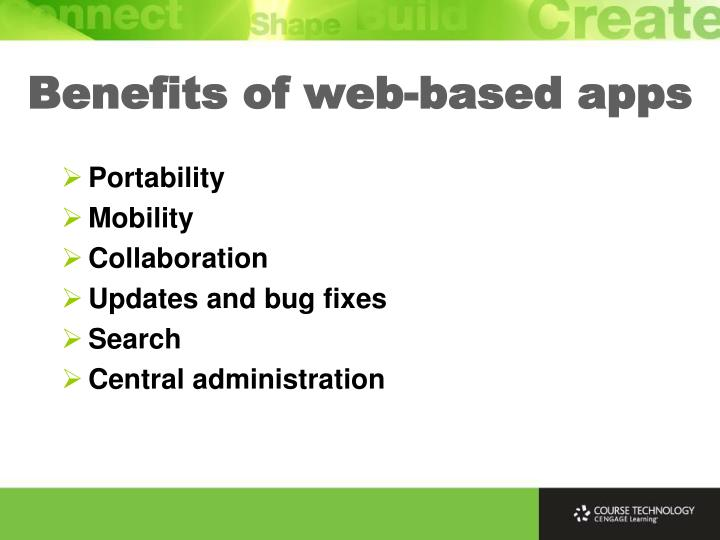 Benefits of web-based apps
