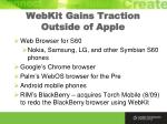 webkit gains traction outside of apple