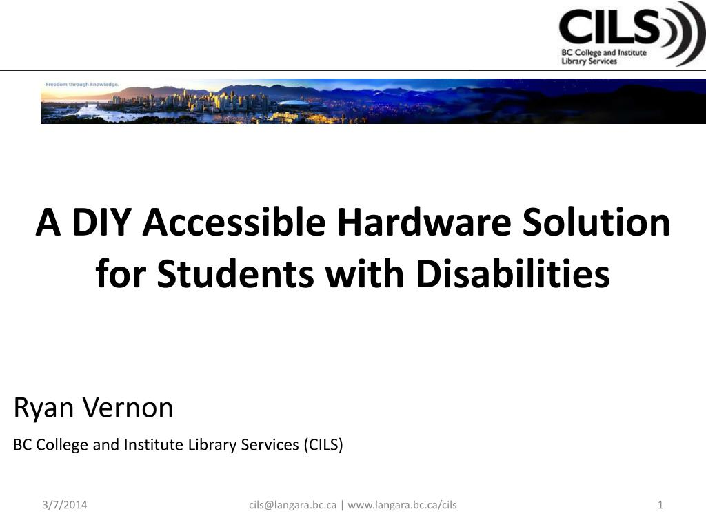 a diy accessible hardware solution for students with disabilities l.