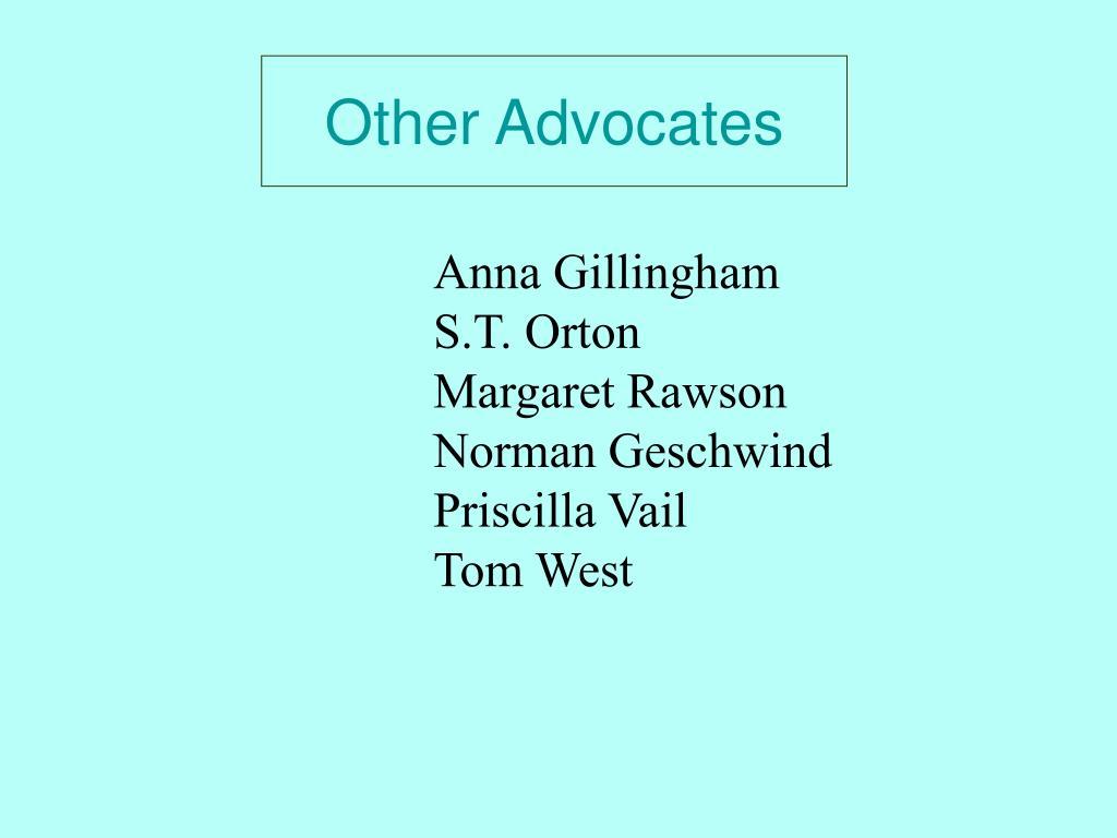 Other Advocates