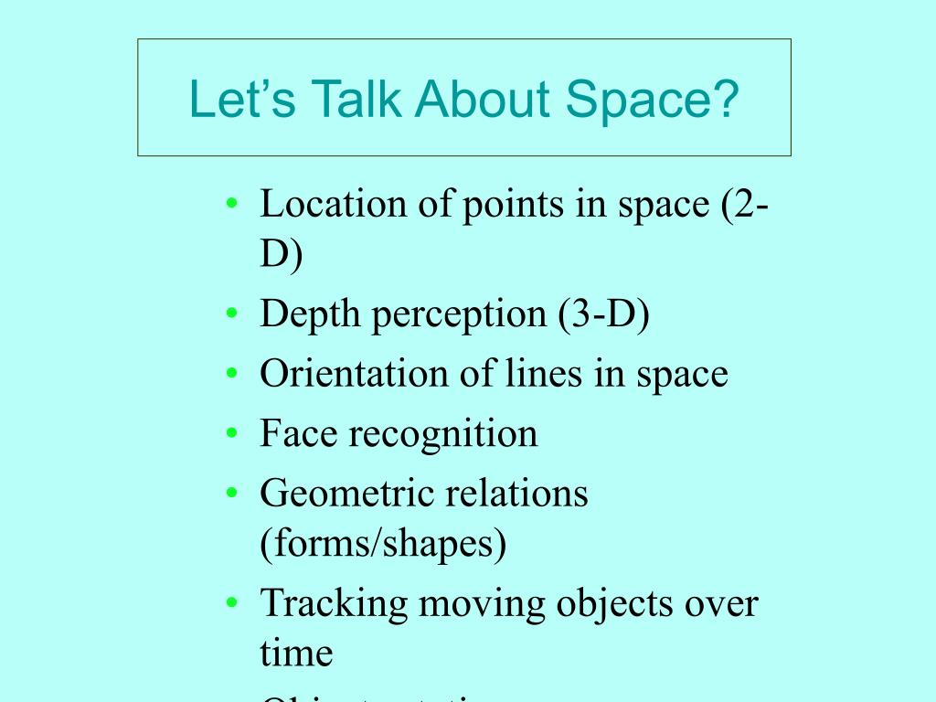 Let's Talk About Space?