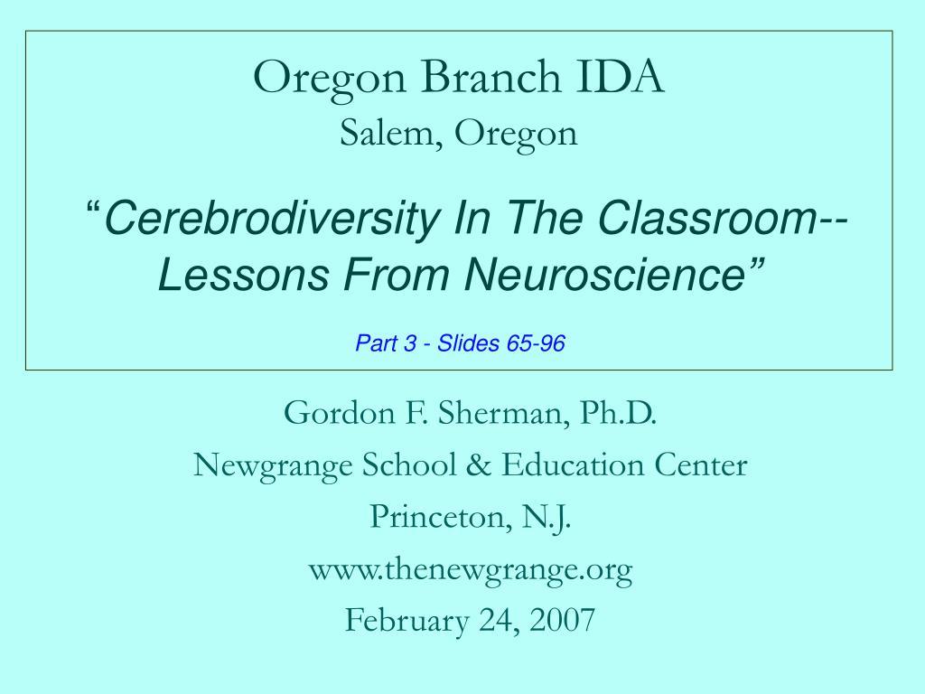 Oregon Branch IDA