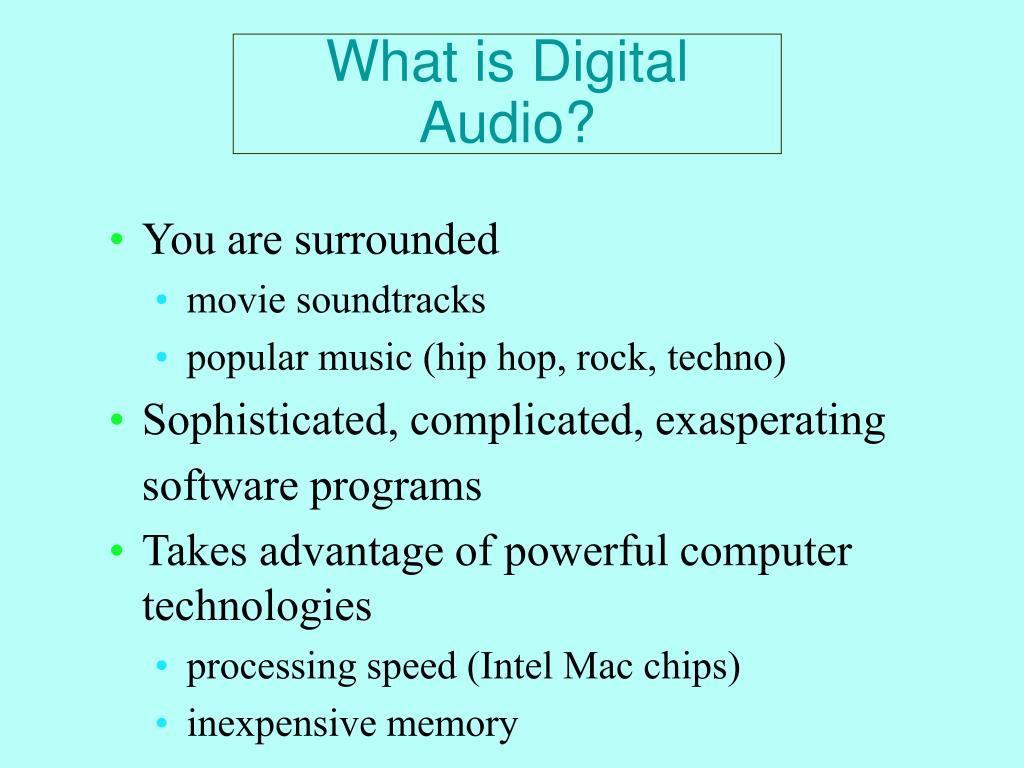 What is Digital Audio?