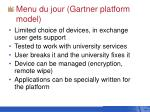 menu du jour gartner platform model