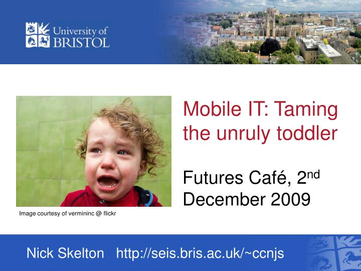mobile it taming the unruly toddler n.