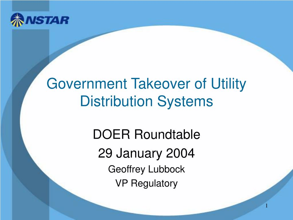 government takeover of utility distribution systems l.
