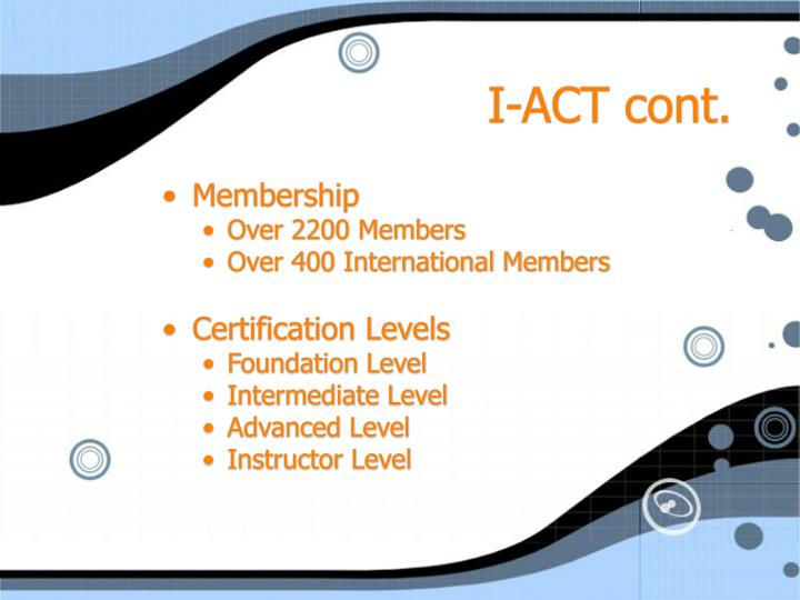 I-ACT cont.