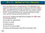 e11 4 method of cost allocation