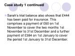 case study 1 continued