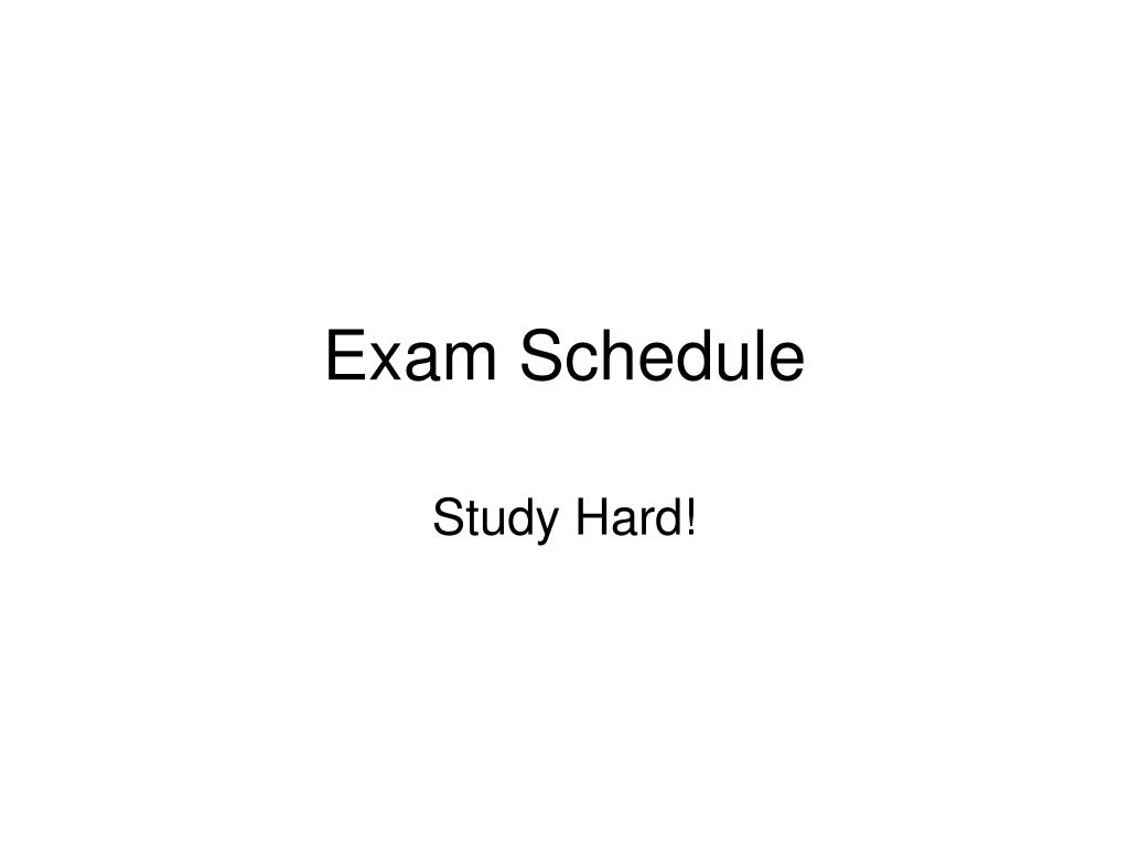 exam schedule l.