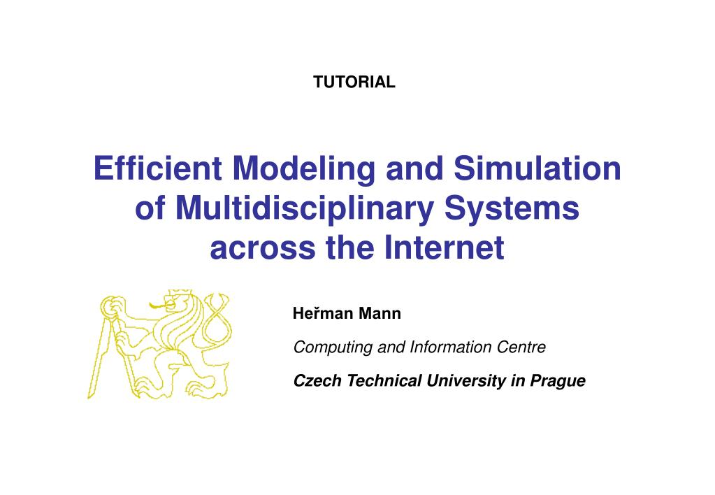 efficient modeling and simulation of multidisciplinary systems across the internet l.