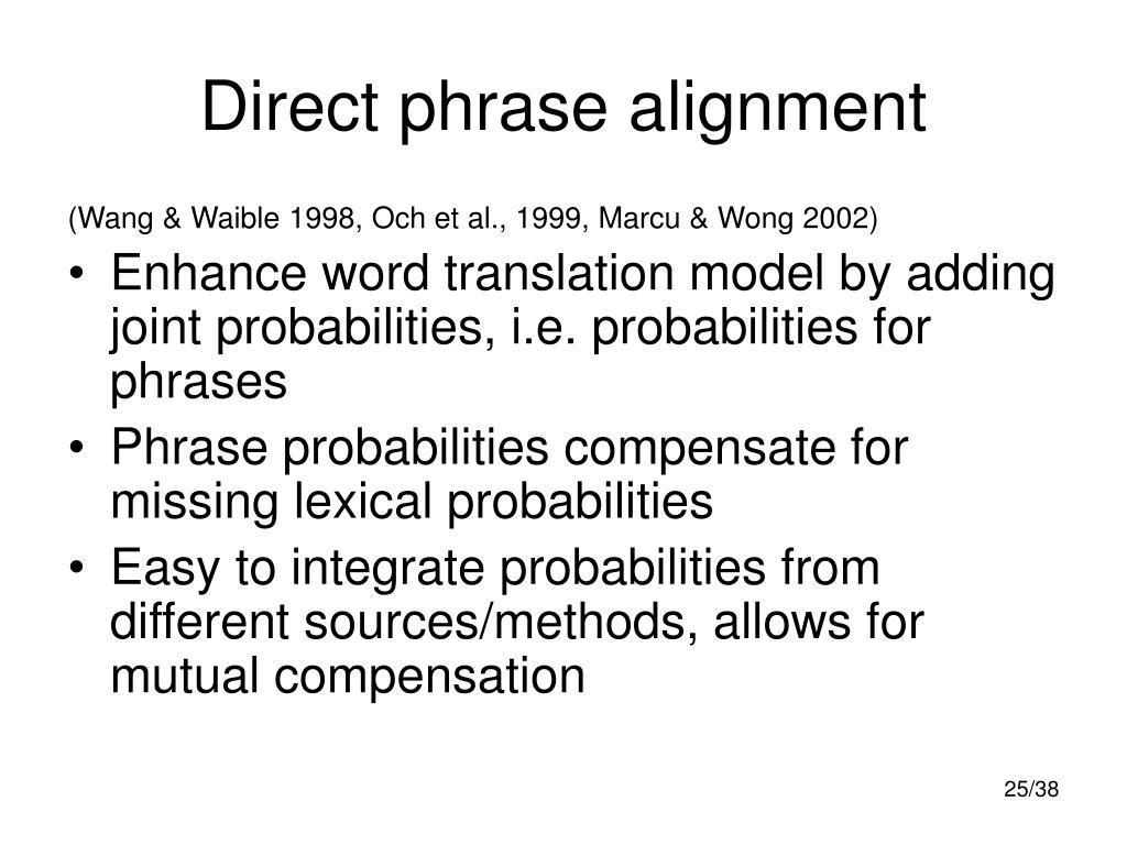 Direct phrase alignment