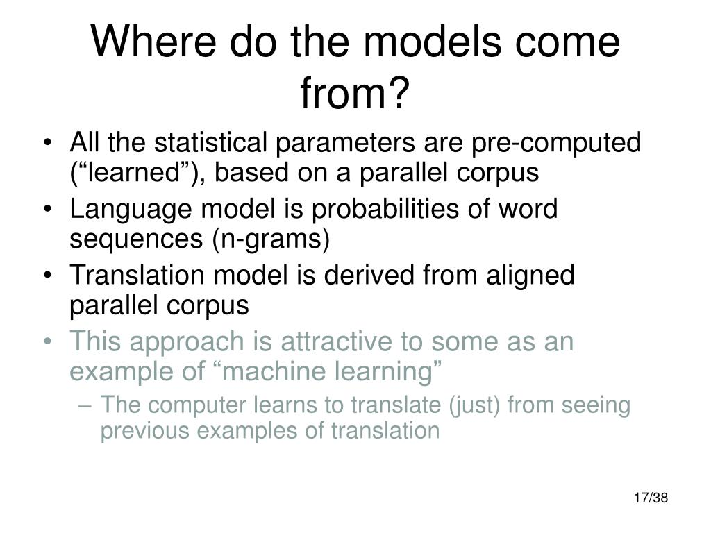 Where do the models come from?