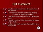 self assesment
