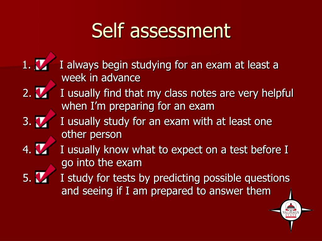 Self assessment