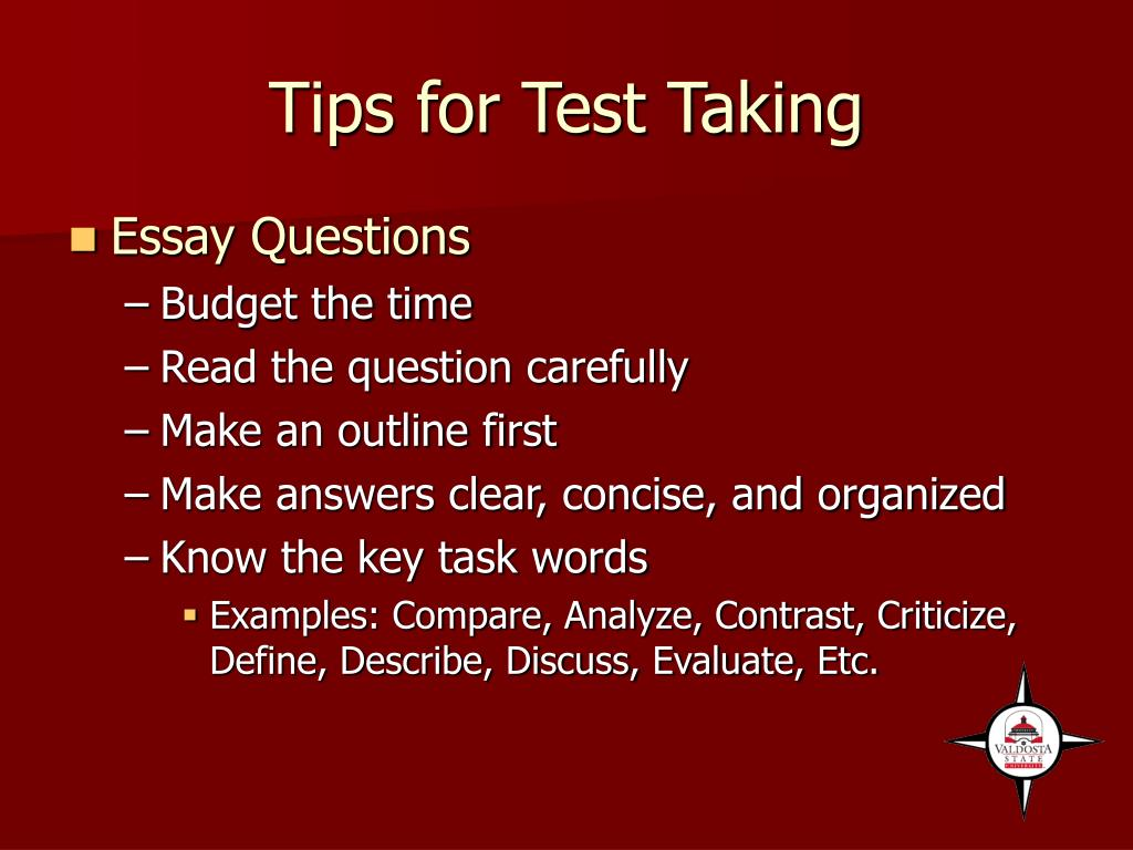 Tips for Test Taking
