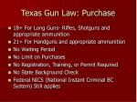 texas gun law purchase