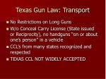 texas gun law transport